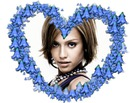 Heart ♥ Blue flowers