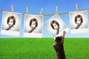 4 hanging polaroids Cat