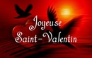 Hati dan burung dengan teks untuk Hari Valentine
