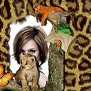 Natur Tiere Schmetterling Marienkäfer Baby Leopard Puma