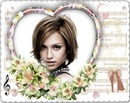 Heart frame Flowers Sheets music ♥
