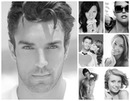 Black and white photo montage 7 pictures