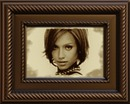 Wooden frame Old style picture