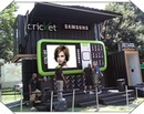 Escena teléfono portátil Samsung