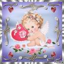 cadre bébé ange