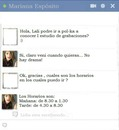 Chat falso de Lali