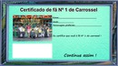 Certificado de fã do Carrossel