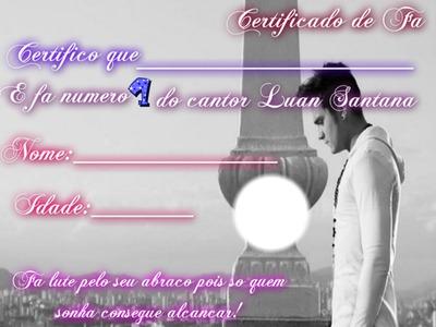 Certificado de Fã (Luan Santana)