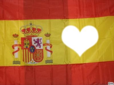 Drapau Espagne coeur
